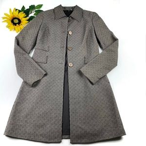 Tahari Single Breasted Trench Coat Size XS Rayon